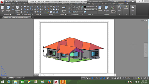 Autocad 3d house modeling tutorial course using autocad for Basic cad online